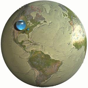 Volume de água no Planeta